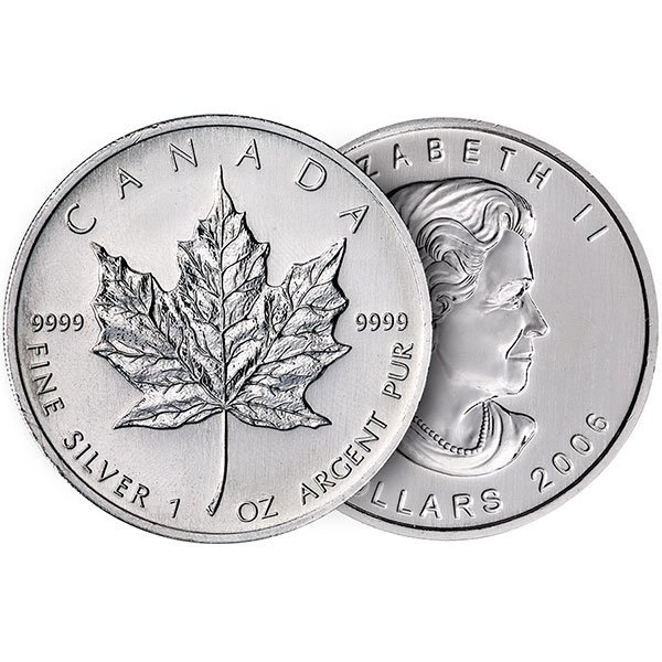Buy Silver Canadian Maple Leaf Coins